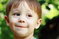 Risa de Little Boy Foto de archivo
