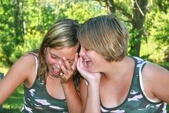 Risa de los amigos Imagen de archivo