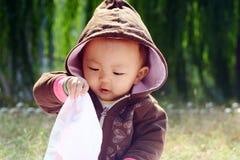 Risa del bebé Fotografía de archivo libre de regalías
