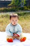 Risa del bebé Fotos de archivo