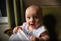 Risa del bebé Foto de archivo