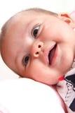 Risa del bebé Fotografía de archivo
