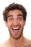 Risa del hombre Fotografía de archivo libre de regalías