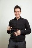Risa del hombre joven fotografía de archivo libre de regalías