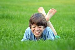 Risa del muchacho Imagen de archivo libre de regalías
