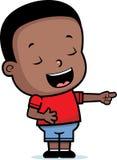 Risa del muchacho stock de ilustración