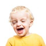Risa del niño Fotografía de archivo