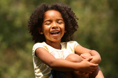 Risa del niño Imagen de archivo libre de regalías