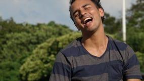 Risa del varón de la minoría Imagen de archivo