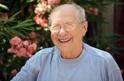 Risa del viejo hombre Fotos de archivo