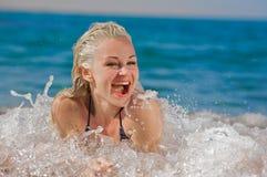 Risa en el mar fotografía de archivo libre de regalías