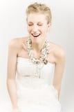 Risa feliz de la muchacha Imagenes de archivo