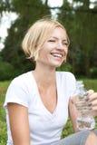Risa feliz de la mujer Fotografía de archivo libre de regalías