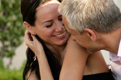 Risa feliz de los pares Imagen de archivo libre de regalías