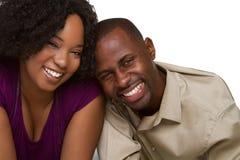 Risa feliz de los pares Foto de archivo libre de regalías