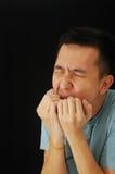 Risa fresca del individuo asiático fotos de archivo