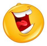 Risa hacia fuera del emoticon ruidoso Imagen de archivo