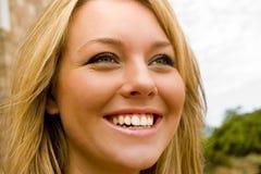 Risa hermosa de la muchacha Fotos de archivo