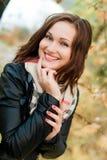 Risa hermosa de la mujer joven Fotografía de archivo libre de regalías
