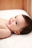 Risa hermosa del bebé Imagen de archivo libre de regalías