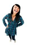 Risa linda del adolescente Foto de archivo libre de regalías