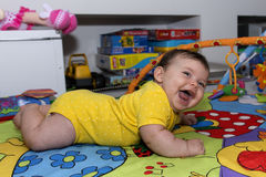 Risa linda del bebé Fotografía de archivo