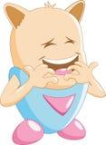 Risa linda del personaje de dibujos animados Fotos de archivo libres de regalías