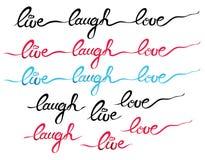 Risa Live Love Text Lettering Fotografía de archivo