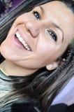 Risa morena joven hermosa Fotos de archivo