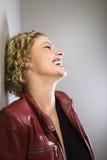 Risa rubia de la mujer. Imagenes de archivo