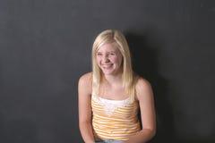 Risa verdadera del Blonde Foto de archivo libre de regalías