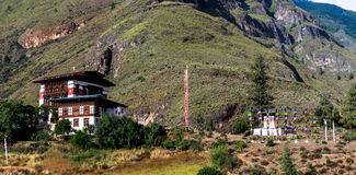 Risaie del Bhutan, Paro valle settembre 2015 Fotografie Stock