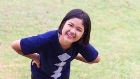 Risas adolescentes de la muchacha Foto de archivo