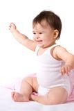 Risata adorabile della neonata Immagine Stock Libera da Diritti