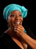 Risata africana Fotografia Stock Libera da Diritti