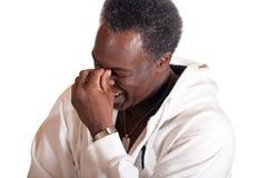 Risata afroamericana dell'attore Immagine Stock Libera da Diritti