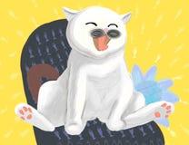 risata del gatto Fotografia Stock Libera da Diritti