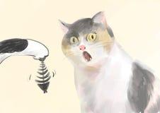 risata del gatto Immagini Stock Libere da Diritti