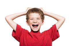 Risata del ritratto del ragazzino Fotografie Stock Libere da Diritti