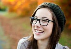 Risata della giovane donna Fotografia Stock