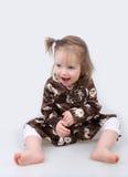 Risata della neonata Immagine Stock