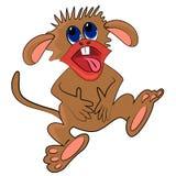 Risata della scimmia del fumetto Fotografie Stock
