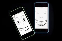 Risata di Smartphone Fotografia Stock