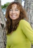 Risata felice della donna Fotografie Stock Libere da Diritti
