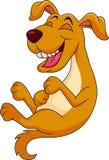 Risata sveglia del fumetto del cane illustrazione di stock
