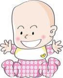 Risata sveglia della neonata Fotografia Stock