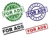 Riscado Textured PARA selos do selo do ADS ilustração stock