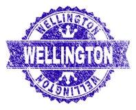 Riscado Textured WELLINGTON Stamp Seal com fita ilustração do vetor