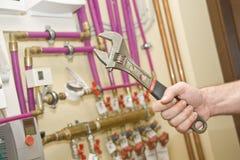 Riscaldamento e sistemi a acqua d'assistenza Immagine Stock