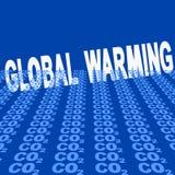 Riscaldamento globale con il CO2 Fotografie Stock Libere da Diritti